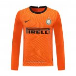 Inter Milan Goalkeeper Shirt Long Sleeve 2020-2021 Orange