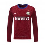 Inter Milan Goalkeeper Shirt Long Sleeve 2020-2021 Red