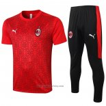 Tracksuit AC Milan Short Sleeve 2020-2021 Red