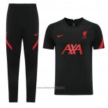 Tracksuit Liverpool Short Sleeve 2021-2022 Black