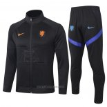 Jacket Tracksuit Holland Kids 2020 Black