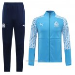 Jacket Tracksuit Olympique Marseille Kids 2020-2021 Blue