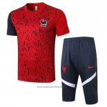 Tracksuit France Short Sleeve 2020-2021 Red