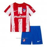 Atletico Madrid Home Shirt Kids 2021-2022