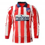 Atletico Madrid Home Shirt Long Sleeve 2020-2021