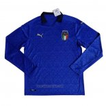 Italy Home Shirt Long Sleeve 2020-2021