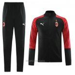 Jacket Tracksuit AC Milan 2020-2021 Black and Red
