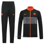 Jacket Tracksuit Roma 2020-2021 Black
