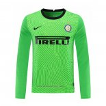Inter Milan Goalkeeper Shirt Long Sleeve 2020-2021 Green