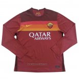 Roma Home Shirt Long Sleeve 2020-2021